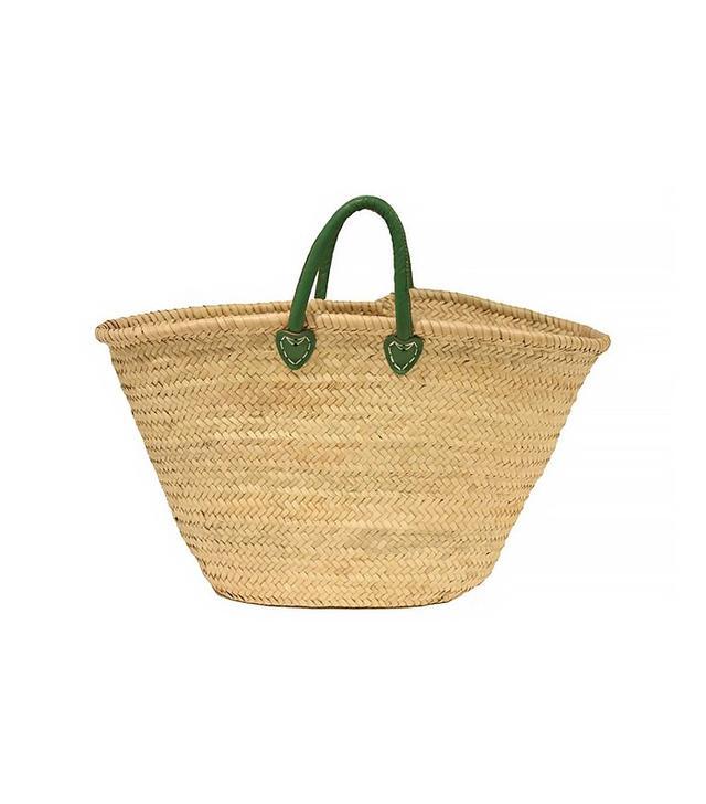 Organic World Imports Palm-Leaf Bag, Green