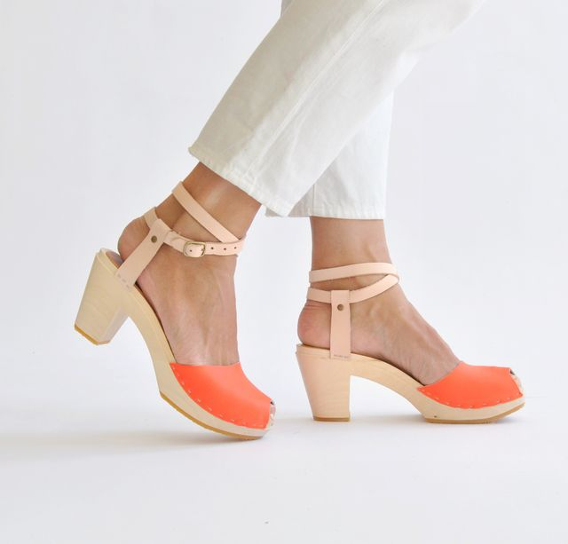 Bryr Color Block Annabelle Peep Toe Sandals