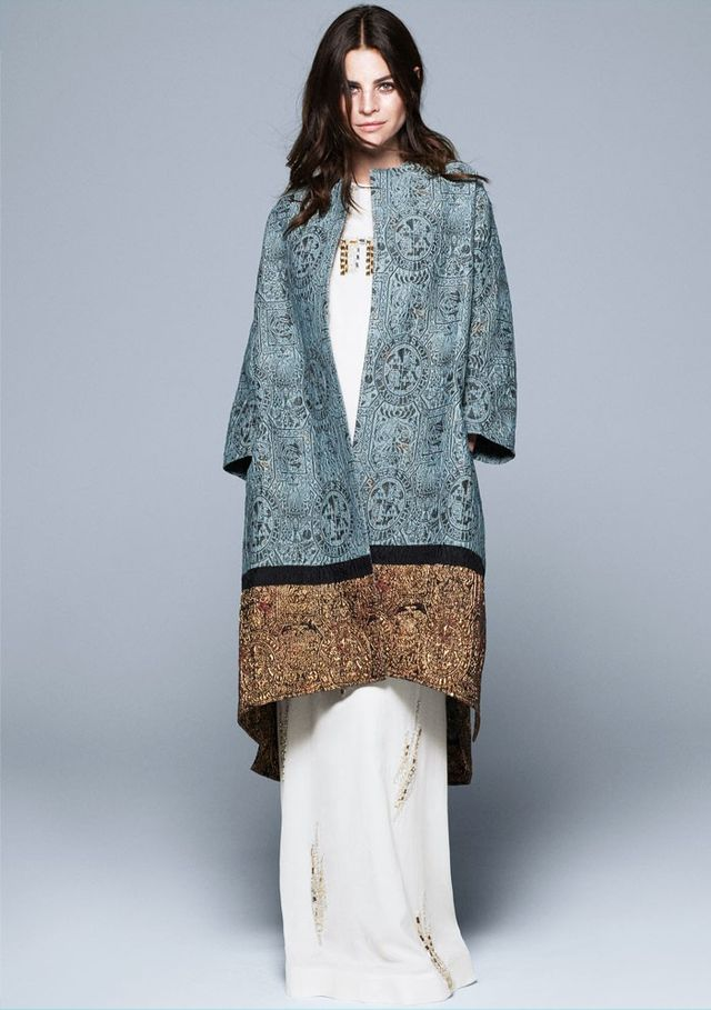 H&M Conscious Collection Jacquard-Weave Silk-Blend Coat (£139)