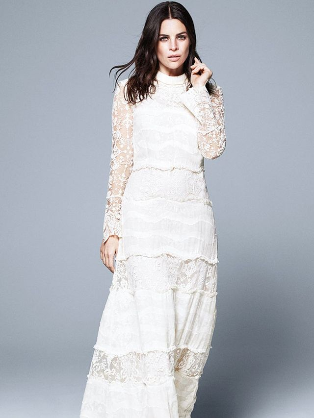 H&M Conscious Collection Long Silk-Blend Lace Dress (£249)