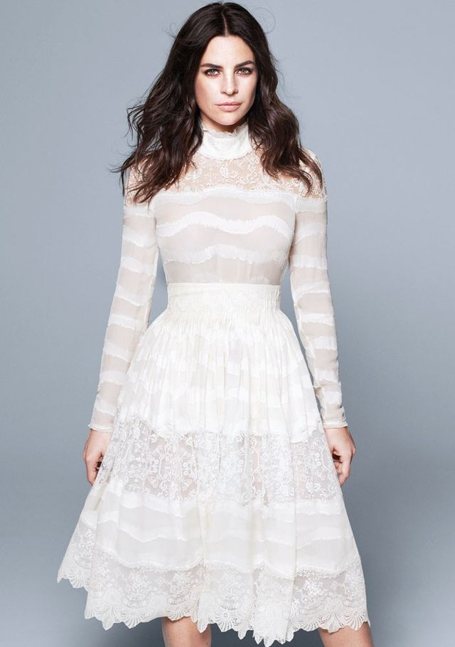 H&M Conscious Collection Silk-Blend Blouse in Lace (£50) and Conscious Collection Silk-Blend Skirt in White Lace (£120).
