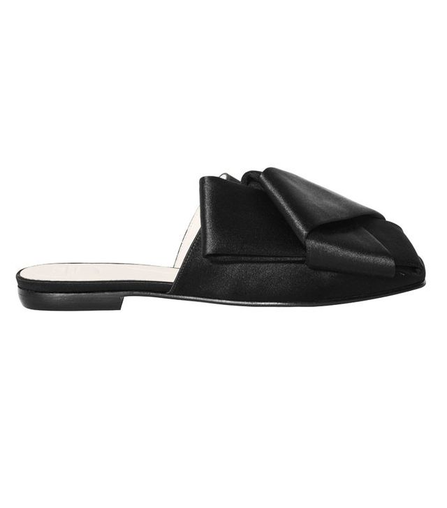 H&M Conscious Collection Silk-Blend Bow Slip-Ons