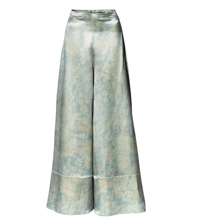 H&M Conscious Collection Silk Wide-Leg Trousers