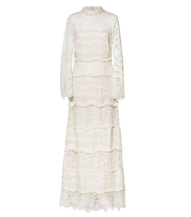 H&M Conscious Exclusive Collection Silk-Blend Long Dress
