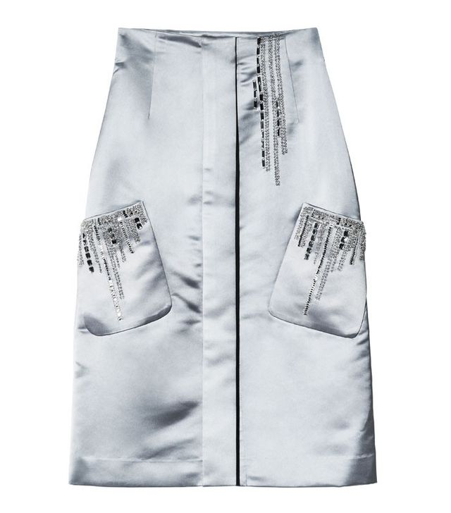 H&M Conscious Collection Satin Pencil Skirt