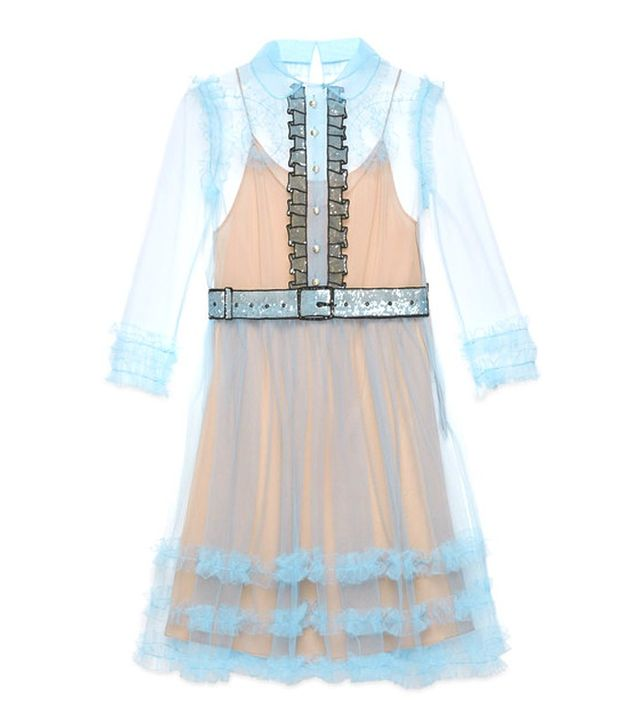 Gucci Tulle Organza Embroidered Dress