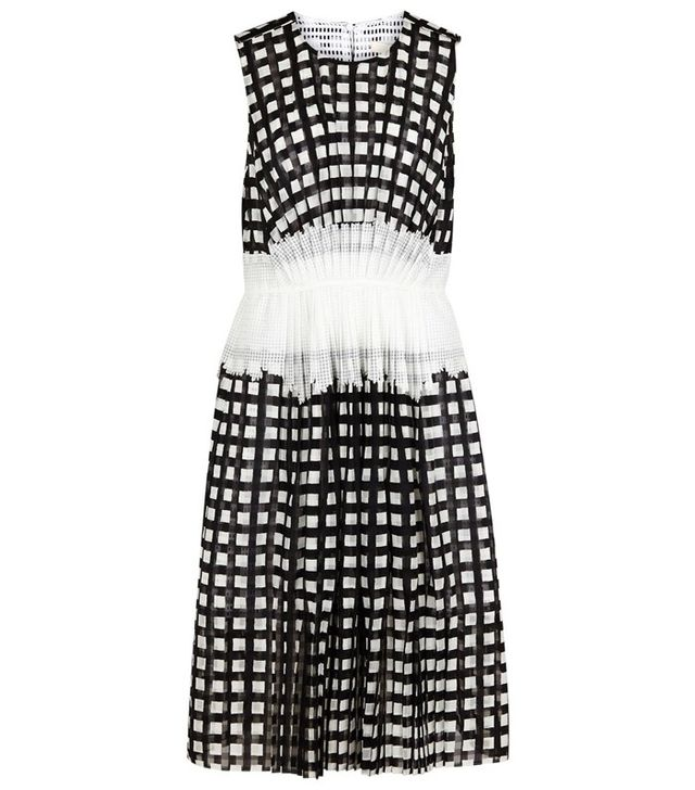 O'2nd Lina Printed Monochrome Chiffon Dress