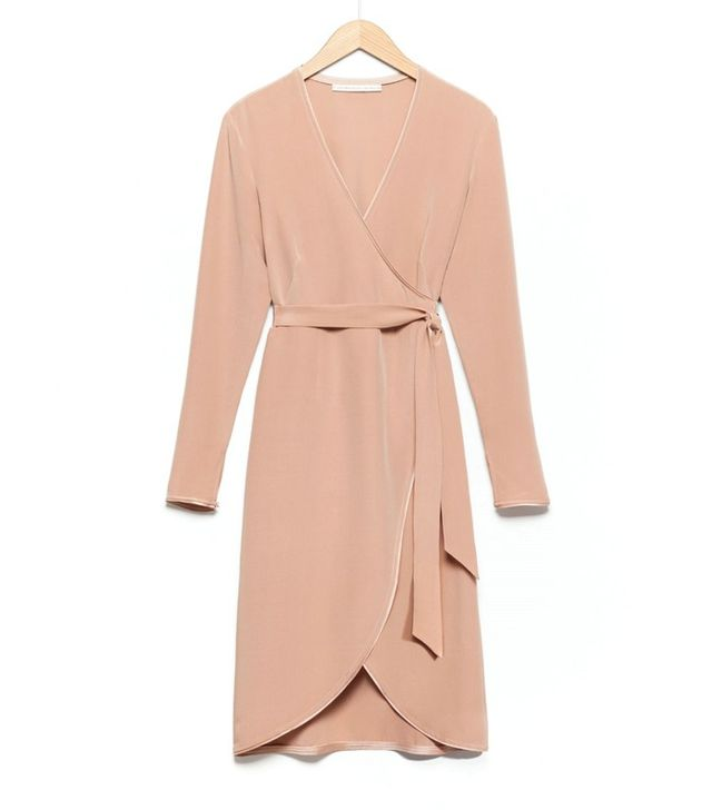 Rodarte x & Other Stories Silk Wrap Dress