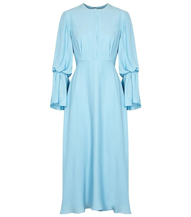 Roksanda Phelia Bell-Sleeve Silk Crepe Dress