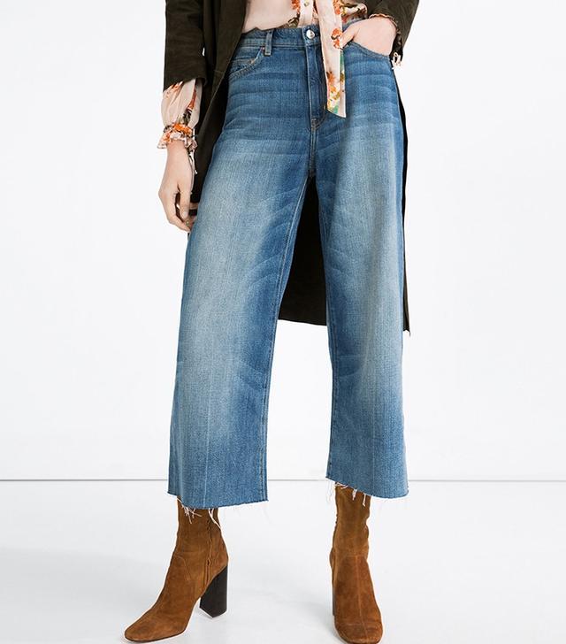 Zara High Rise Flared Jeans