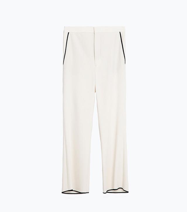 Zara Cropped Bell Bottom Trousers