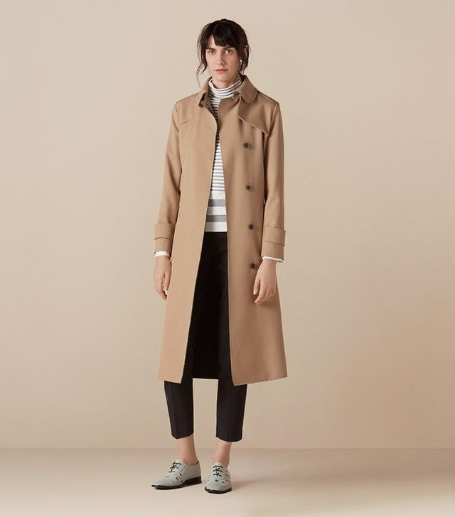 Finery Felsham Bonded Trench Coat With Raw Edging