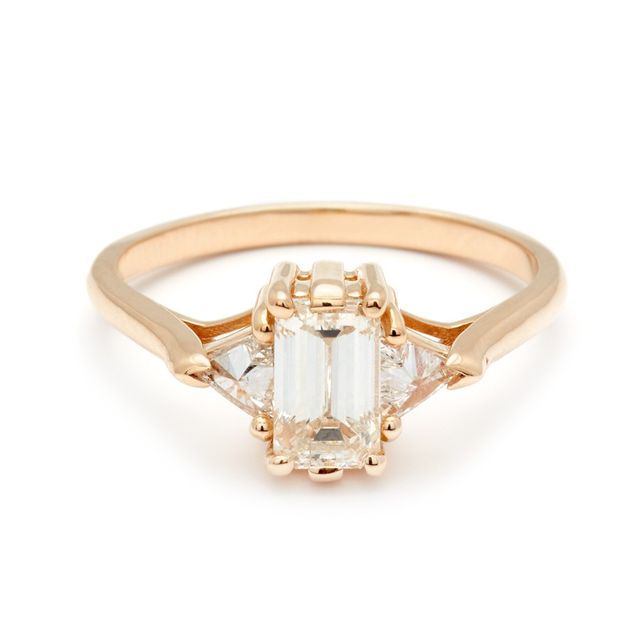 Anna Sheffield Bea Three Stone Ring-White Diamond