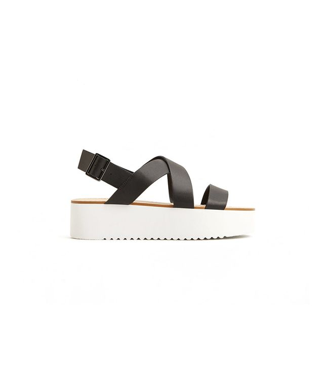 Mango Platform Strap Sandals