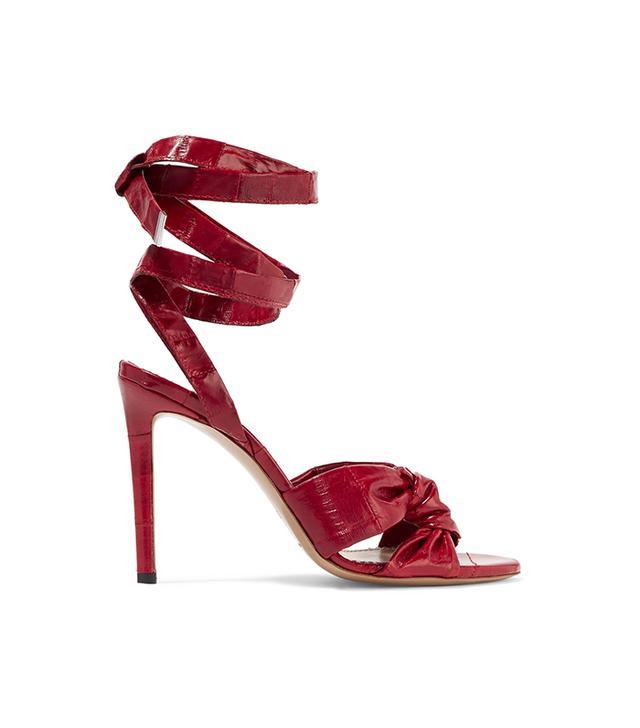 Altuzarra Zuni Knotted Eel Sandals