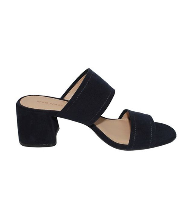 Who What Wear Collection Carolina Double Band Block Heel Slide Sandals