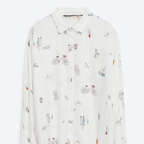 Bows Cropped Shirt