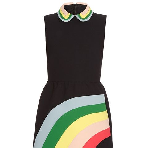 Rainbow Panel and Collar Dress
