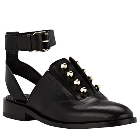 Pierced Ankle Strap Oxfords