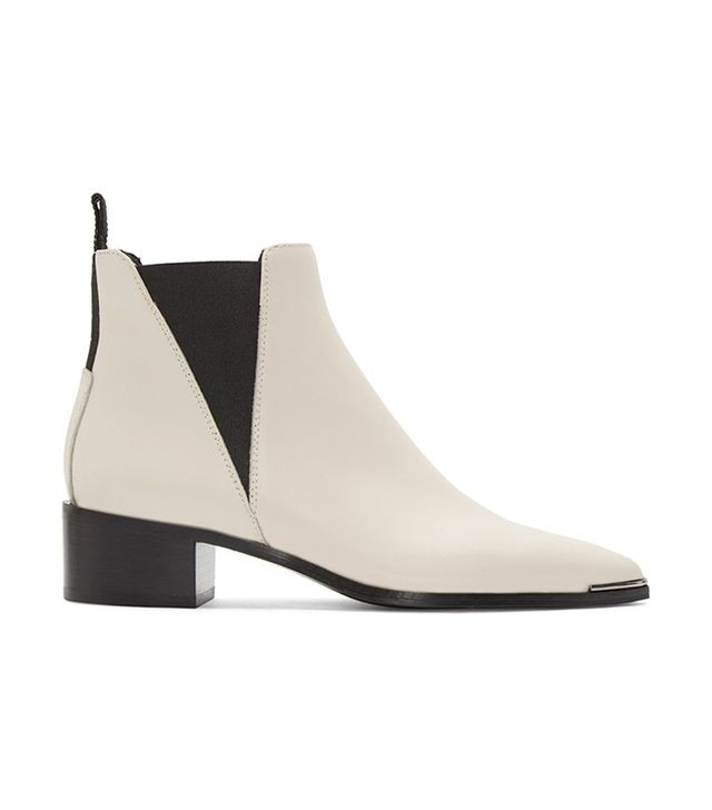 Acne Studios White Jensen Smooth Ankle Boots