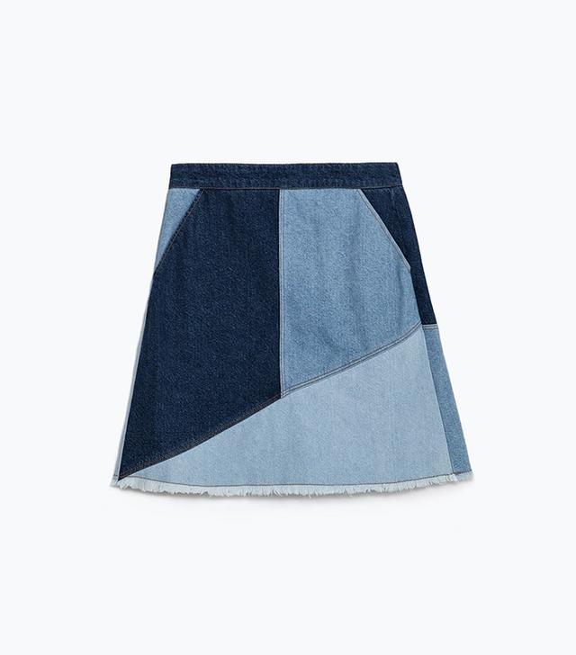 Zara Patchwork Skirt