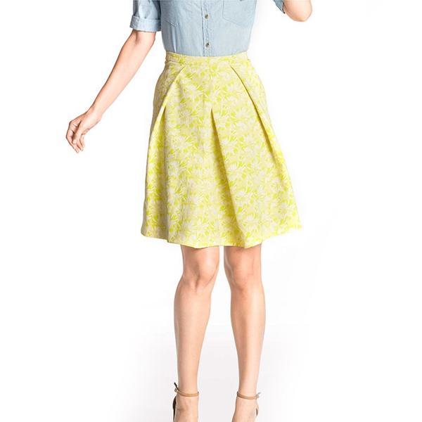 Draper James Harpeth Jacquard Mid Length Skirt