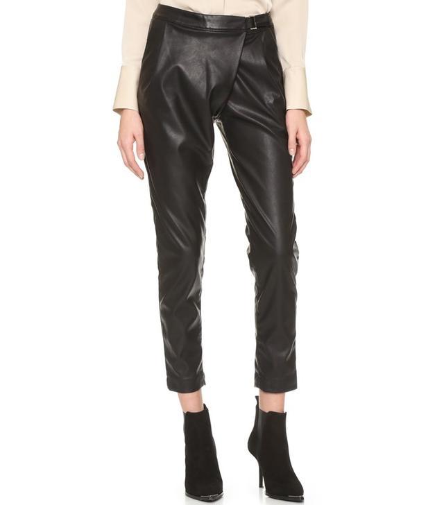 Blank Denim Crossover Trousers
