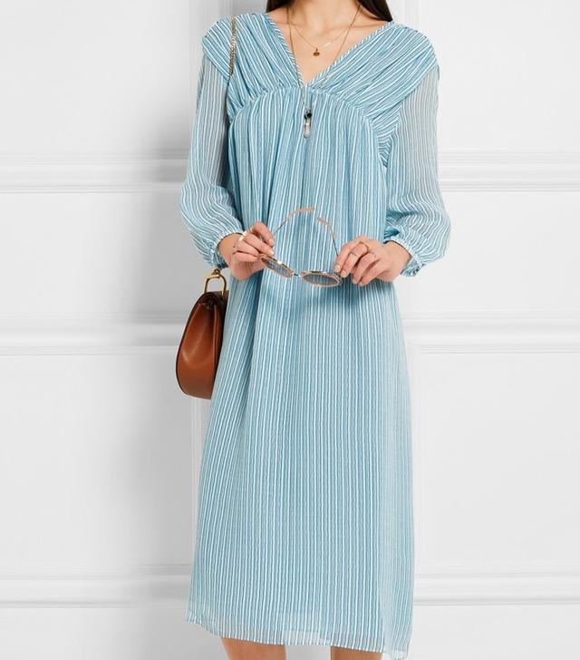 M.i.h Jeans Petaluma Striped Silk-Georgette Dress