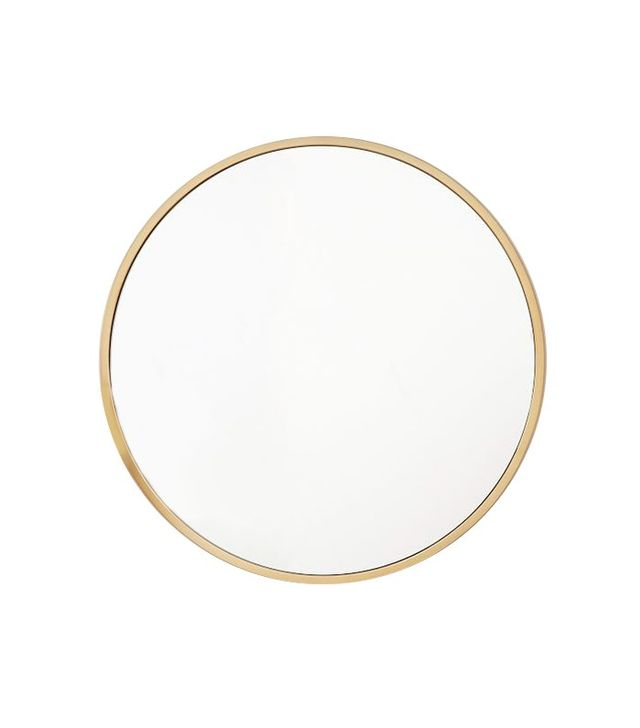West Elm Metal Framed Round Mirror