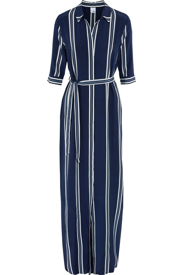 Iris and Ink Adie Striped Silk Crepe De Chine Maxi Dress