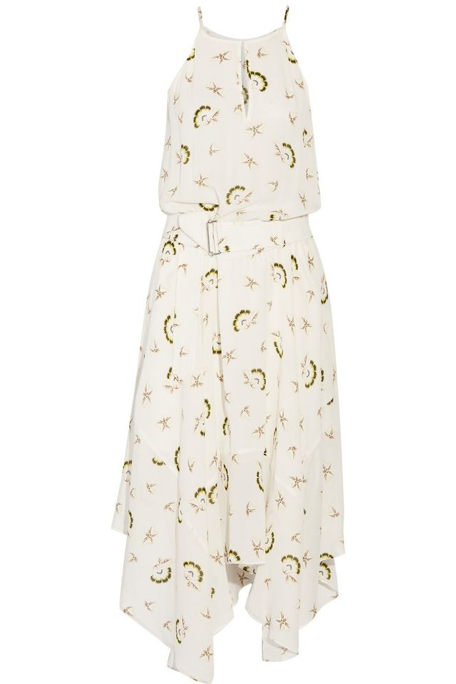 A.L.C. Topper Printed Silk-Crepe Midi Dress