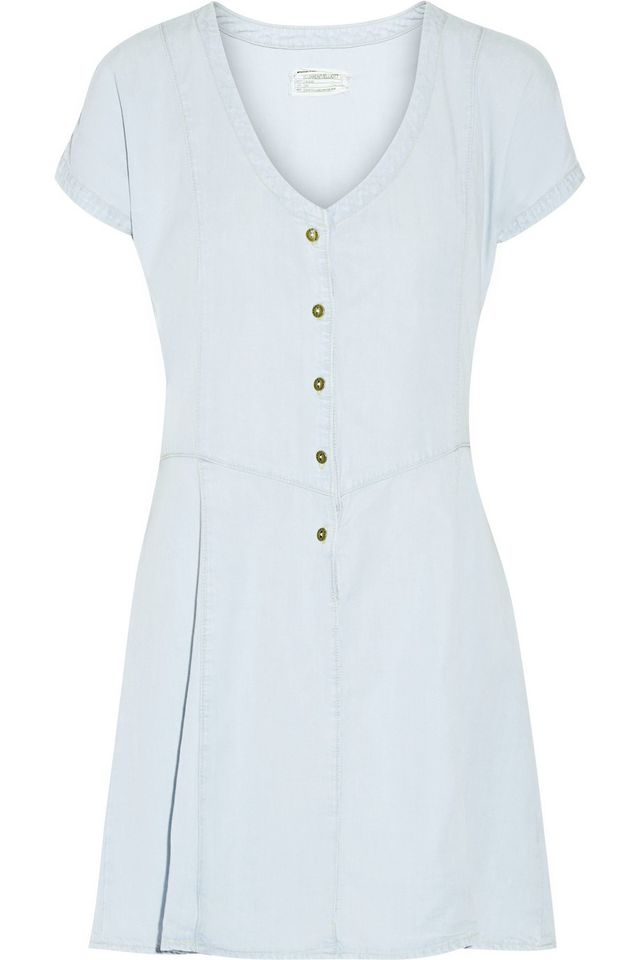 Current/Elliot The Valley Chambray Mini Dress