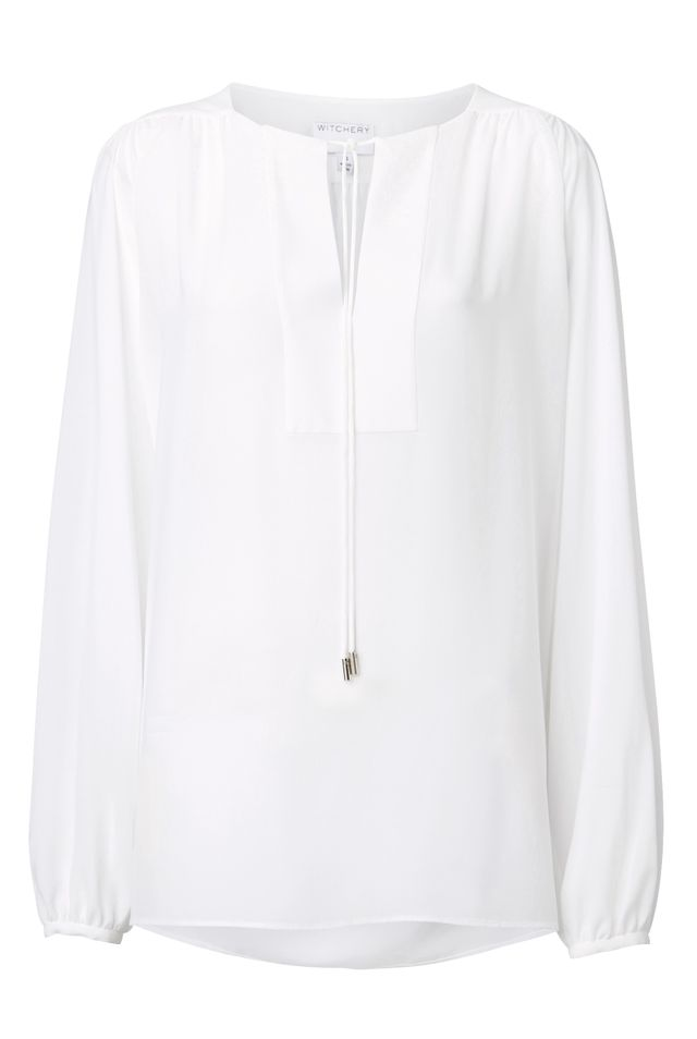 Witchery Tie Front Blouse