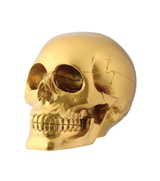 Summit Gold Skull Head Collectible Skeleton Decoration