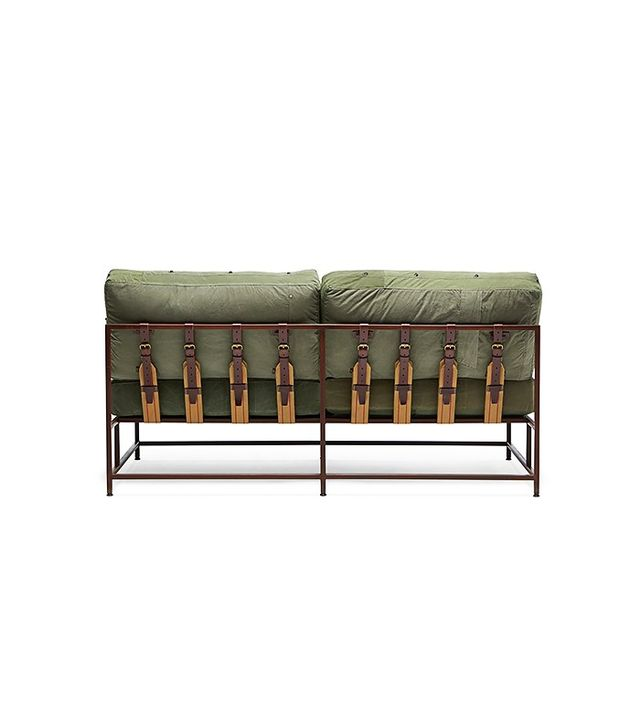 Stephen Kenn Military Canvas Two Seat Sofa