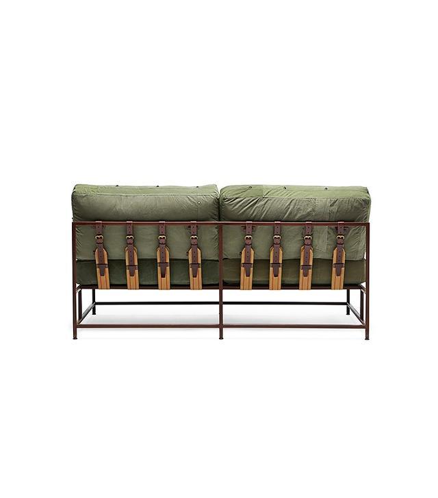 Stephen Kenn Military Canvas Two Seat Sofa
