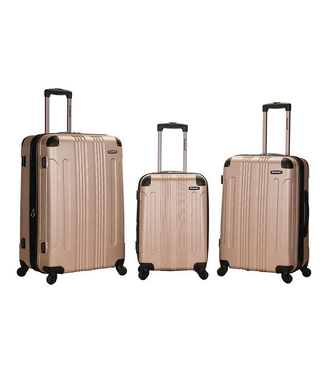 Rockland Sonic 3 Piece ABS Expandable Spinner Luggage Set