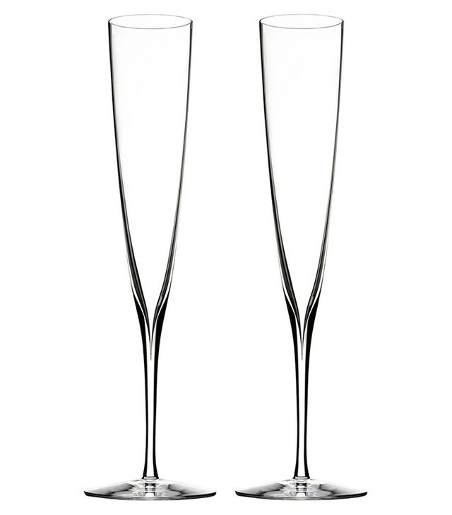 Waterford Elegance Fine Crystal Champagne Trumpet Flutes
