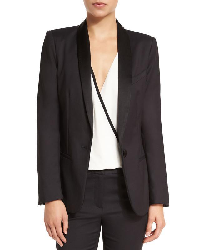 L'Agence Antoni Cotton-Blend Tuxedo Blazer