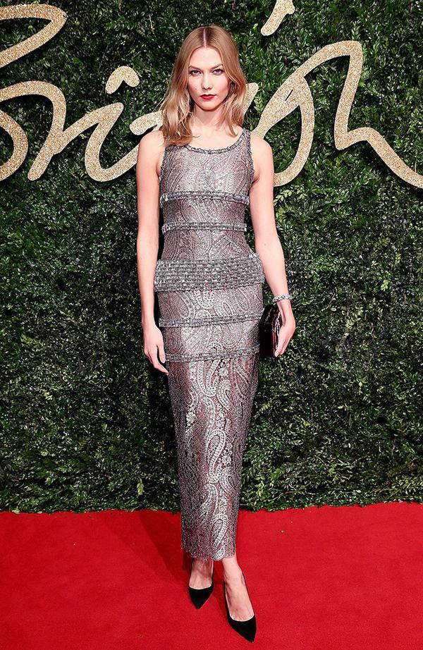 On Kloss:Chanel dress.