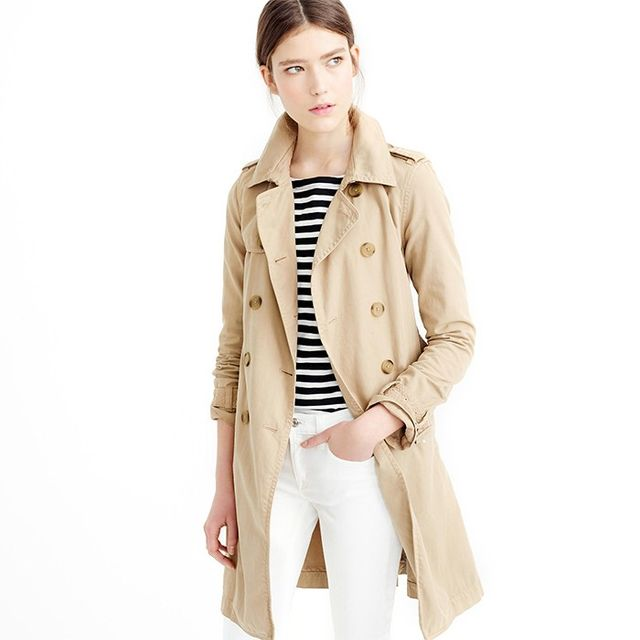 J. Crew Washed Cotton Trench