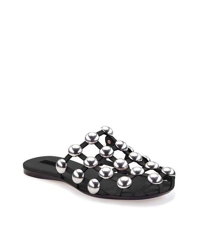 Alexander Wang Amelia Studded Leather Web Sandals