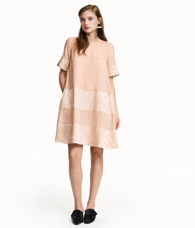 H&M A-Line Lyocell-Blend Dress
