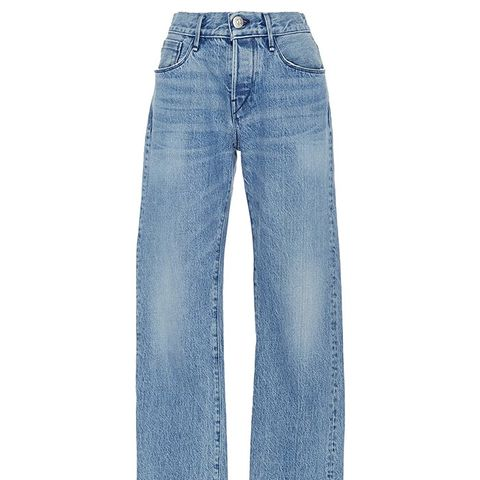 WM3 Straight Cropped Fringed Jeans