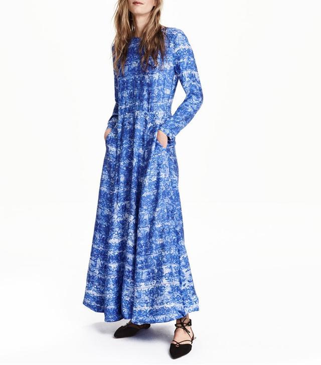 H&M Lyocell-Blend Maxi Dress