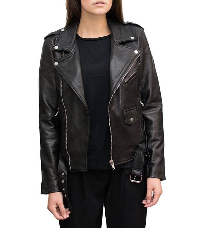 Deadwood Recycled Leather Biker Jacket