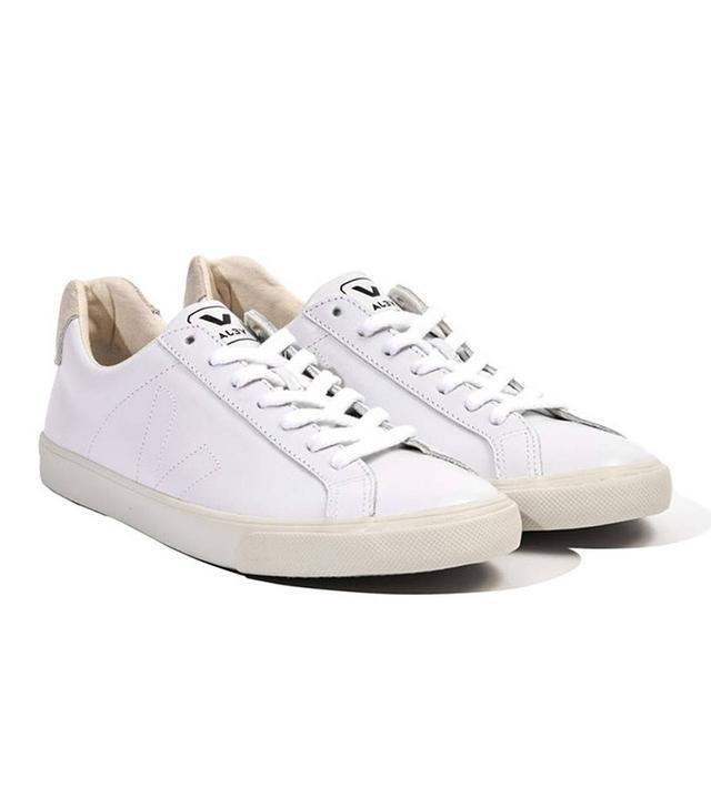 Veja White Leather Esplar Sneakers