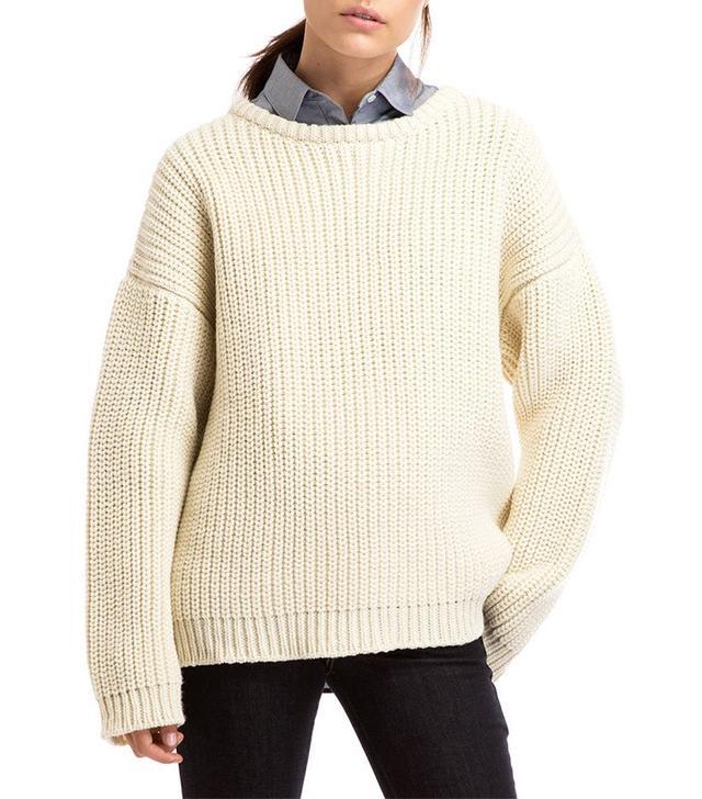 Zady .09 Natural Chunky Knit Sweater