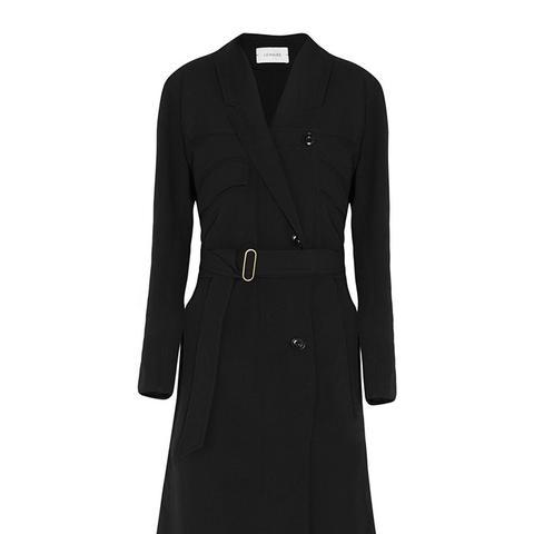 Wool-Crepe Trench Coat