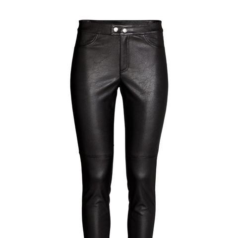 Imitation Leather Pants
